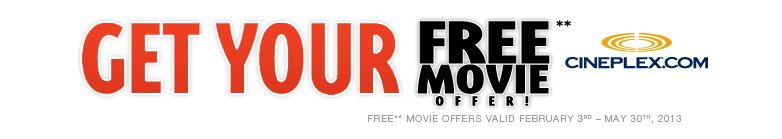 Get your Free movie offer!